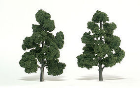 Woodland Scenic Accents Assembled Tree Medium Green 7-8 (2) Model Railroad Tree #tr1518