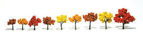 Woodland Scenic Accents Assembled Tree Fall Mix 1-1/4 - 3 (9) Model Railroad Tree #tr1540