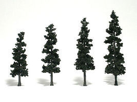 Woodland Scenic Accents Assembled Conifer Pine Green 4-6 (4) Model Railroad Tree #tr1561