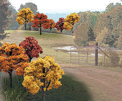 Woodland Ready Made Trees Value Pack Fall Deciduous Trees 2-3 (23) Model Railroad Tree #tr1576