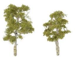 Woodland Ready Made Premium Trees Deciduous Aspen 1 Each - 2-1/4 & 2-3/4 Model #tr1612