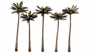 Woodland Large Palm Tree 4 3/4 -5 1/4 (5) Model Railroad Tree #tr3598