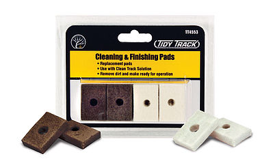 Woodland Scenics Tidy Track Cleaning/Finishing Pads -- HO Scale Nickel Silver Model Train Track -- #tt4553