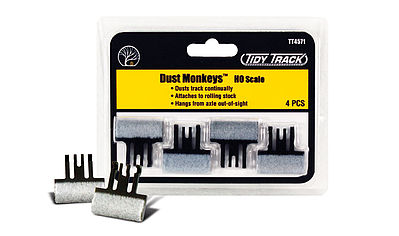 Woodland Scenics Tidy Track Dust Monkeys HO -- HO Scale Nickel Silver Model Train Track -- #tt4571