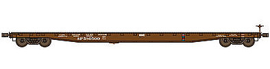 Wheels of Time F-70-43 Standard-Deck Flatcar Southern Pacific #580567 -- HO Scale Model Train Freight Car -- #40019