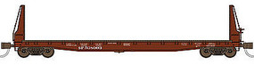 WheelsOfTime Welded Fish Belly Bulkhead Flatcar Southern Pacific N Scale Model Train Freight Car #50009