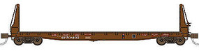 WheelsOfTime 70-Ton 536 Welded Fish Belly Bulkhead Flatcar SP N Scale Model Train Freight Car #50021