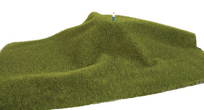 Walthers Accessories Tear and Plant Grass Mats Mossy Grass Short -- Model Railroad Grass Mat -- #1120