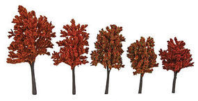 Walthers-Acc Autumn Trees with Pin Base 10 Pack (4 to 5-1/2) HO Scale Model Railroad Tree #1154