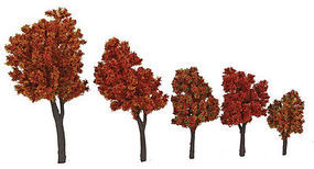 Walthers-Acc Autumn Trees with Pin Base 10 Pack (1-5/8 to 4) HO Scale Model Railroad Tree #1155
