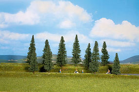 Walthers-Acc Pine Trees 10 Pack (3-3/8 to 5-1/2) HO Scale Model Railroad Tree #1158
