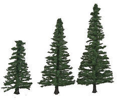 Walthers-Acc Pine Trees with Pin Base 10 Pack (1-9/16 to 3-3/8) HO Scale Model Railroad Tree #1159