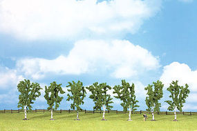 Walthers-Acc Birch Trees 7 Pack (3-15/16) HO Scale Model Railroad Tree #1164