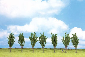 Walthers-Acc Poplar Trees 7 Pack (4-3/4) HO Scale Model Railroad Tree #1165