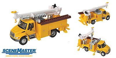 Walthers Accessories Intl 4300 Util w/Drll Ylw - HO-Scale