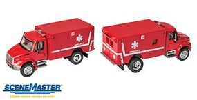 Walthers-Acc Intl 4300 EMS Amblnce Red - HO-Scale