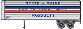 Walthers-Acc 35 Trailer 2-Pack - Assembled Bangor & Aroostook