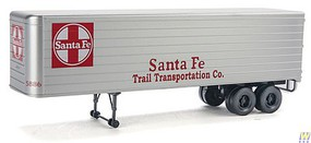 Walthers-Acc 35 Fluted-Side Trailer 2-Pack - Assembled Santa Fe