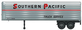 Walthers-Acc 35 Fluted-Side Trailer 2-Pack - Assembled Southern Pacific(TM)