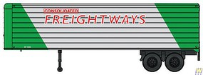 Walthers-Acc 35 Fluted-Side Trailer 2-Pack - Assembled Consolidated Freightways