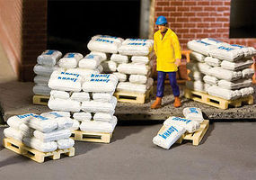 Walthers-Acc Bags of Sand, Grain & Cement (40) HO Scale Model Railroad Building Accessory #4130