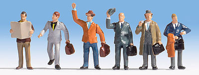 Walthers Accessories Business Travelers -- HO Scale Model Railroad Figure -- #6024