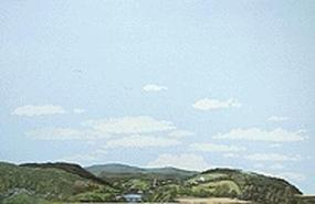 Walthers-Acc Eastern Foothills to Country Background Scene 24 x 36 Model Railroad Scenery Supply #715