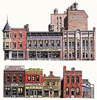 Walthers-Acc Instant Buildings Main Street Stores HO Scale Model Railroad Scenery Supply #725
