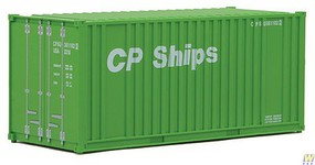 Walthers-Acc 20 Container w/Flat Panel - Assembled CP Ships (green, white)