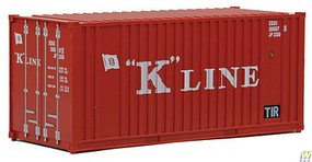 Walthers-Acc 20 Container w/Flat Panel - Assembled K-Line (red, white)