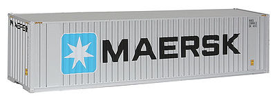 Walthers Accessories 40' HC Container MAERSK -- HO Scale Model Train Freight Car Load -- #8201