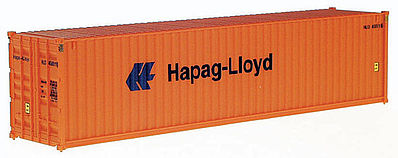 Walthers Accessories 40' Hi-Cube Corrugated Container Hapag-Lloyd -- HO Scale Model Train Freight Car Load -- #8254