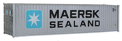 Walthers Accessories 40' Hi-Cube Corrugated Container Maersk-Sealand -- HO Scale Model Train Freight Car Load -- #8255
