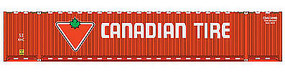 Walthers-Acc 53 Singamas Corrugated-Side Container - Ready to Run Canadian Tire (red, white, green)