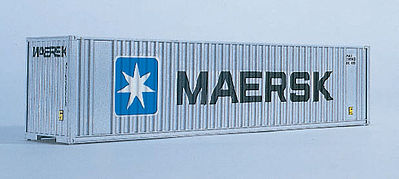 Walthers Accessories 40' HC Container MAERSK -- N Scale Model Train Freight Car Load -- #8801