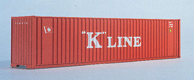Walthers Accessories 40' HC Container K-Line -- N Scale Model Train Freight Car Load -- #8803