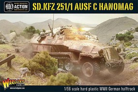 Warload-Games 28mm Bolt Action- WWII SdKfz 251/1 Ausf C Hanomag German Halftrack (Plastic)