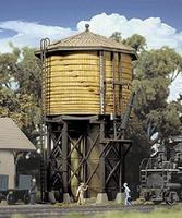 Walthers Wood Water Tank - Built-ups - Assembled - Yellow Ochre HO Scale Model Railroad Buidling #2813