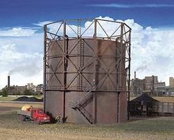 Walthers Gas Storage Tank Kit 9-7/8 Diameter x 9-1/8 Tall HO Scale Model Railroad Building #2907