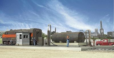 Walthers Diesel Fueling Facility - Kit -- HO Scale Model Railroad Building -- #2908