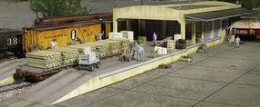 Walthers Open Air Transload Building - Kit - 25 x 5-1/4 x 3 HO Scale Model Railroad Building #2918