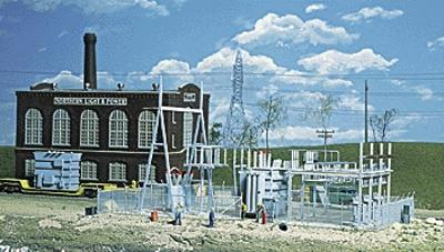 Walthers Northern Light & Power Substation Kit -- HO Scale Model Railroad Building Kit -- #3025