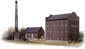 Walthers Cornerstone Series(R) Greatland Sugar Refining Includes Mill Building, Warehouse, Boilerhouse & Smokestack - HO-Scale