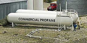 Walthers Propane/Ammonia Stroage Tanks - Kit HO Scale Model Railroad Building Accessory #3129