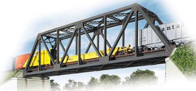 Walthers Single-Track Truss Bridge - Kit - 20 x 3-1/4 x 5'' -- HO Scale Model Railroad Bridge -- #3185