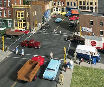Walthers Asphalt Street System - Kit - Complete Set -- HO Scale Model Railroad Road Accessory -- #3194