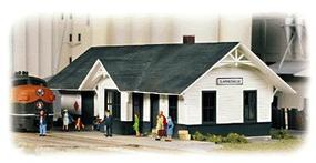 Walthers Clarkesville Depot - Kit - 5-1/4 x 2 x 1-7/8 N Scale Model Railroad Building #3240