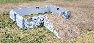 Walthers Fieldstone Barn Base & Ramp - Kit -- HO Scale Model Railroad Building -- #3331