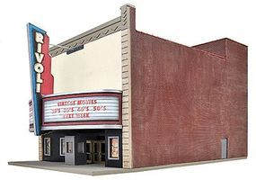 Walthers Rivoli Theatre - Kit - 6-1/8 x 9-3/4 x 7-1/2 HO Scale Model Railroad Building #3771