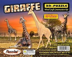 Wood-3D Giraffe (12 Tall) Wooden 3D Jigsaw Puzzle #1113